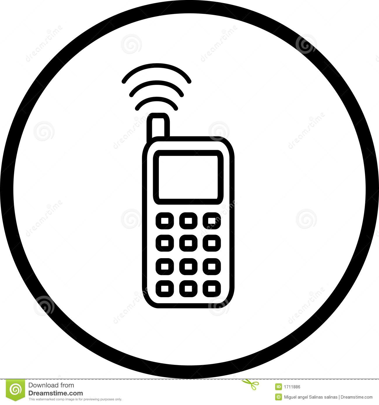 Symbole de t l phone portable 1711886